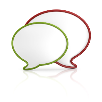 red-and-green-speech-bubbles