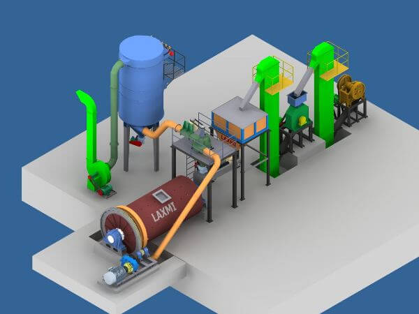 Ball Mill with Micronizing Plant