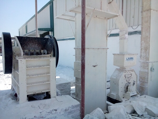 jaw crusher & hammer mill with bucket elevator
